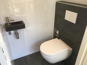 Vrij hangend toilet in Velserbroek